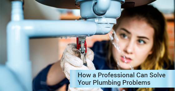 professional solving plumbing issues
