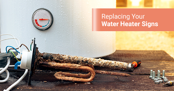 The heating element is covered with rust, indicating its time to replace the water heater