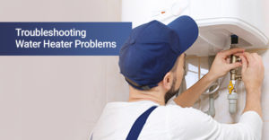 A man troubleshooting water heater problems on his own.