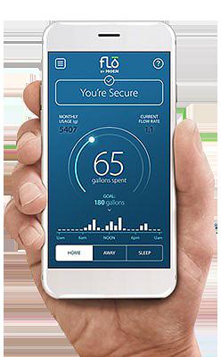 flo by Moen water meter leak detection app